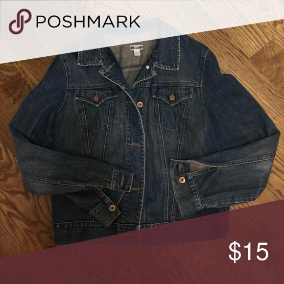 Gap denim jacket Heavy denim Gap jacket.  Size large GAP Jackets & Coats Jean Jackets