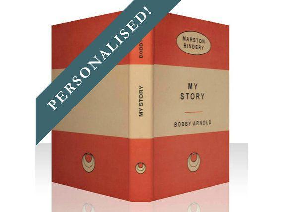 Kindle Paperwhite Cover - Orange Personalised Retro Book