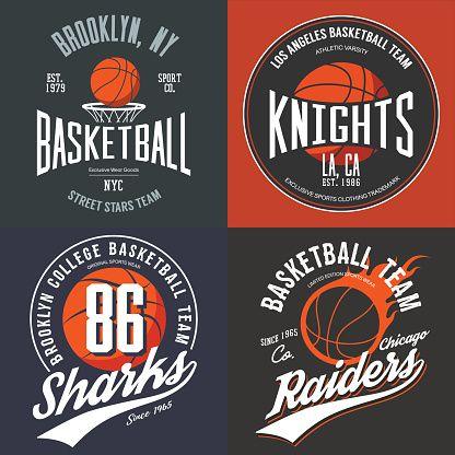 Design for basketball fans, usa new york brooklyn street team. vector art illustration