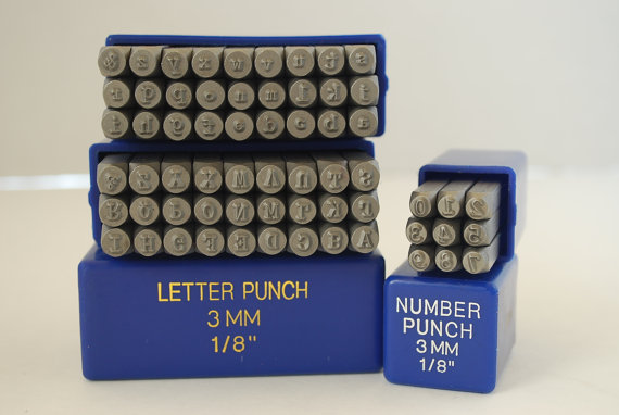 """Alphabet Metal Stamp Set-/""""Tootsie Roll/""""Font 4mm-Metal Supply Chick-Steel Stamps"""