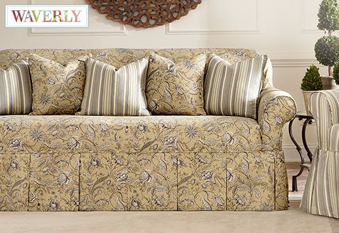 Fanciful Floral By Waverly One Piece Slipcovers A