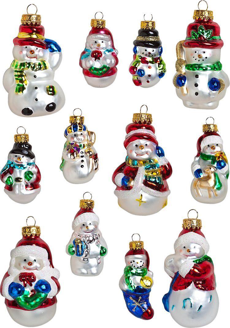 Gl Ornaments Snowman Vintage