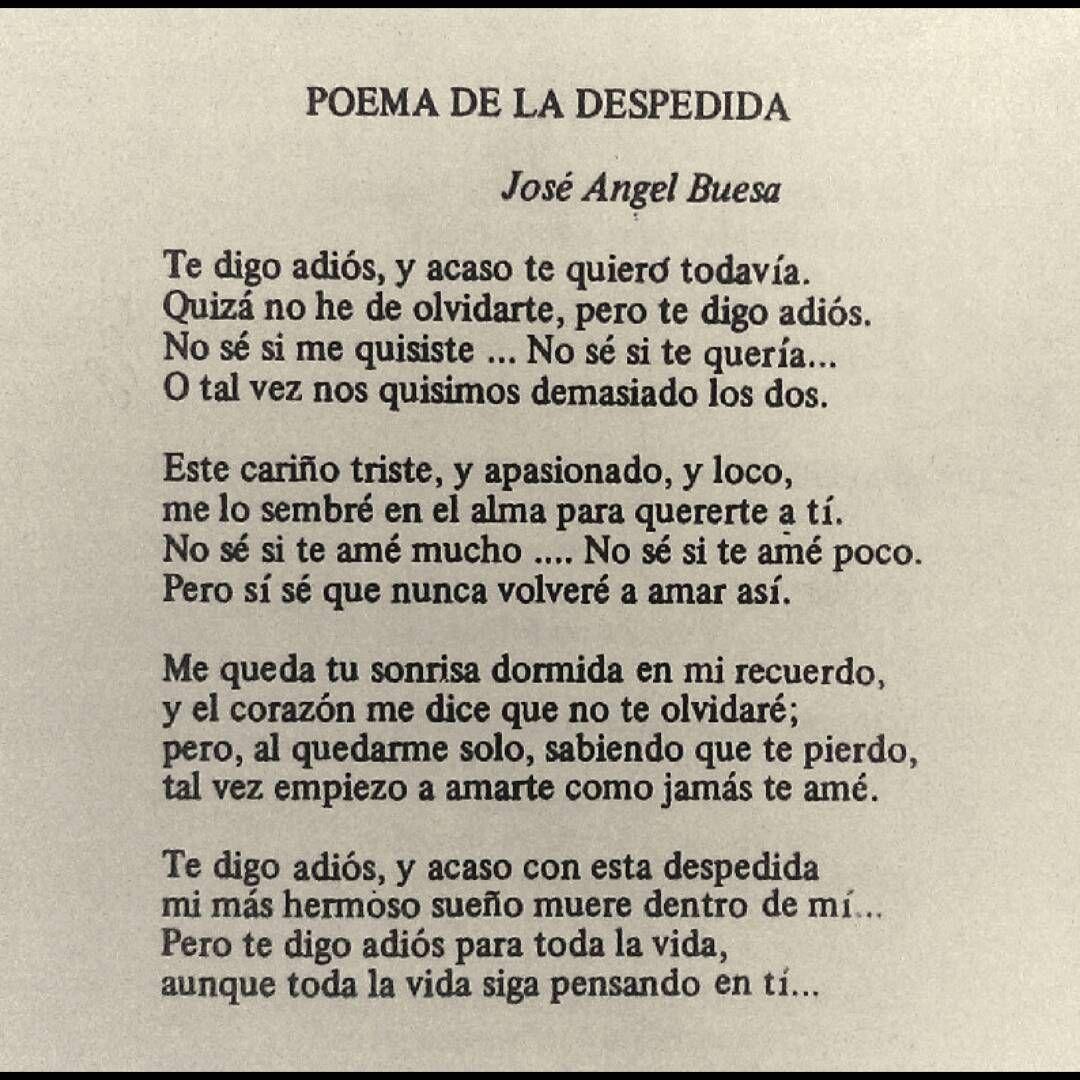 Poema De La Despedida Poemas De Despedida Te Digo Adios Y