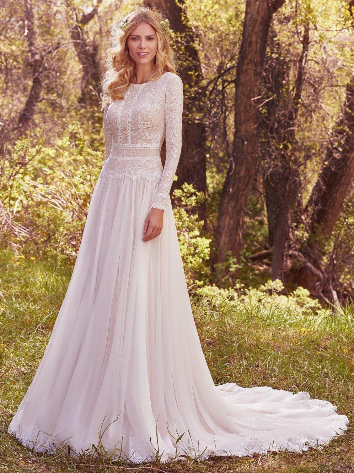 Modest long sleeve lace wedding dresses  DEIRDRE MARIE by Maggie Sottero Wedding Dresses  Modest Wedding