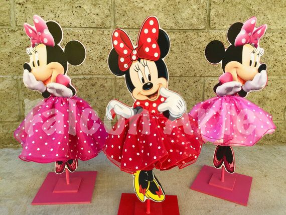 Minnie mouse tutu birthday decoration pink or red