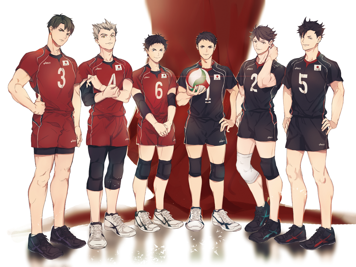 Team Japan Just Imagine What Kind Of Team They Would Be With Oikawa S Mean Serves I Don T Even Know Xd Kuroo Haikyuu Haikyuu Anime Haikyuu