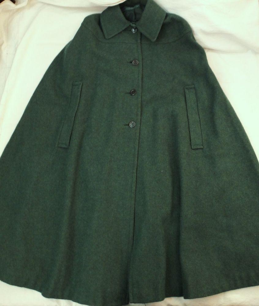 Was Ist Schurwolle vintage loden cape poncho schurwolle grün petrol kleidung die