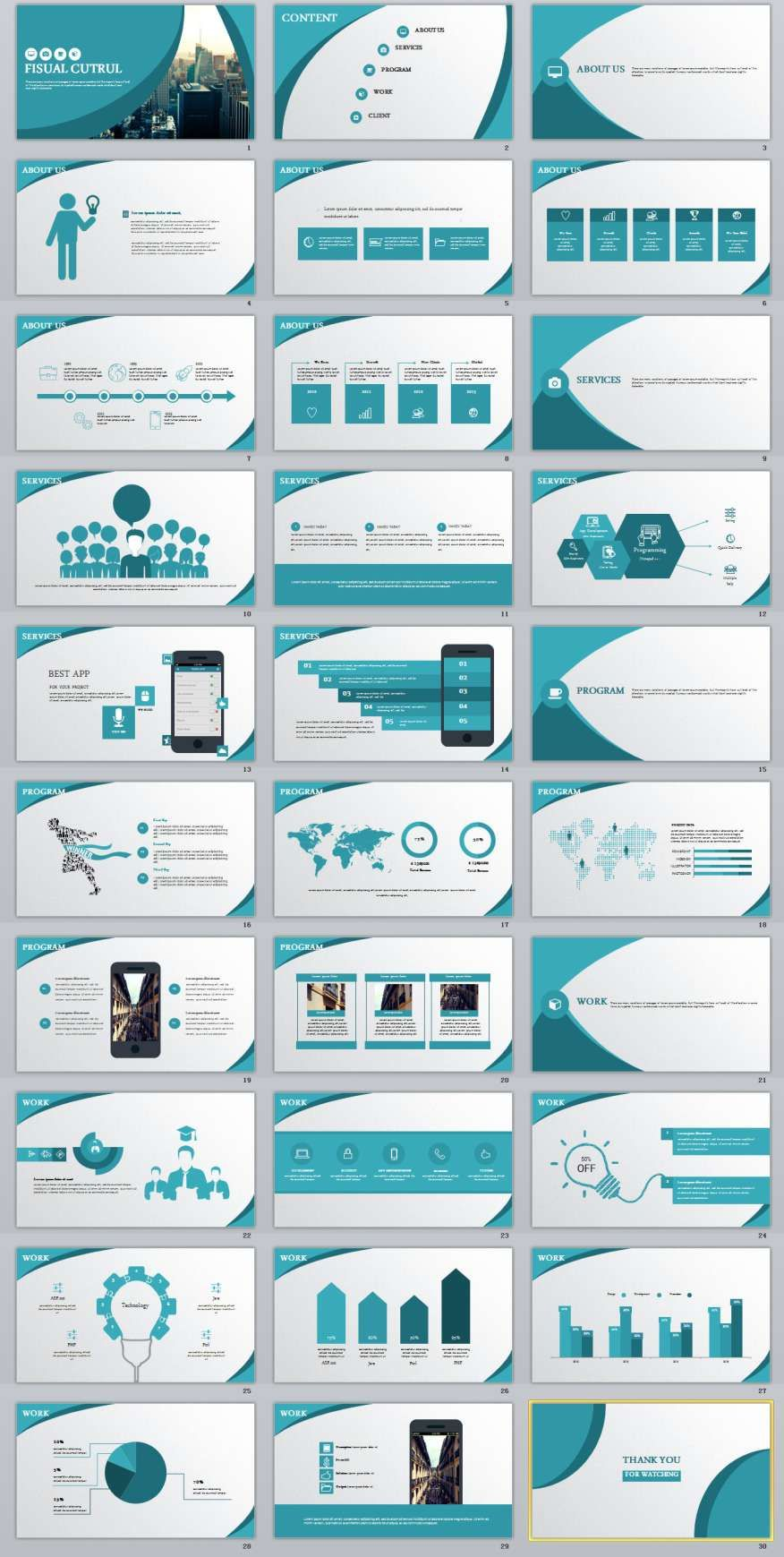 30+ Best Blue business powerpoint Template
