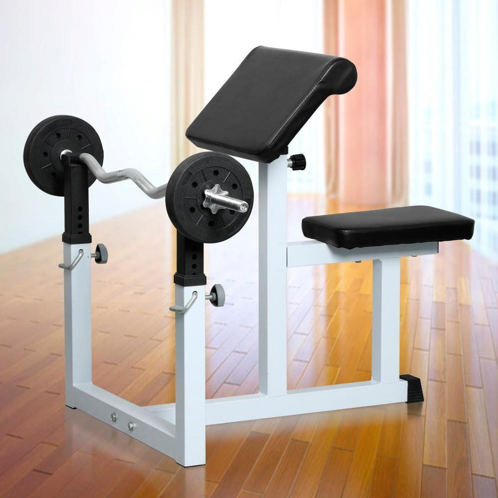 Yaheetech Commercial Preacher Arm Curl Weight Bench It Aims To Help You Exercise Your Biceps You Can Use I Weight Benches Adjustable Weight Bench At Home Gym