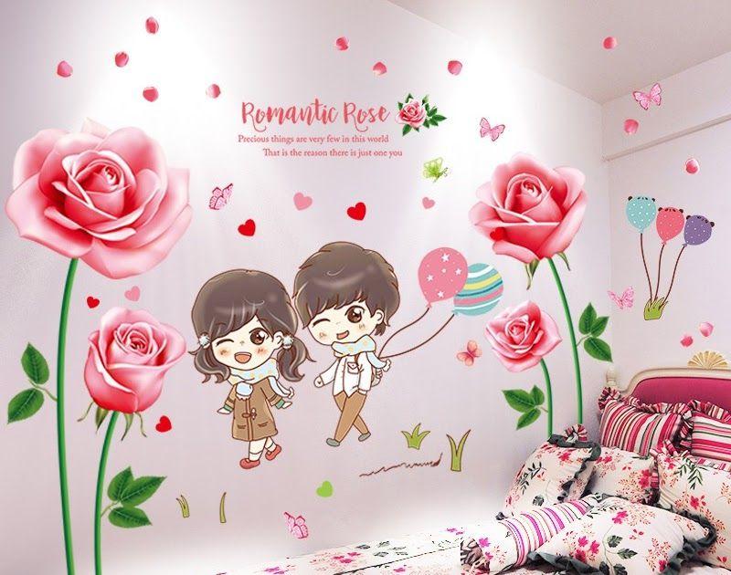 Wallpaper Dinding Kamar Tidur Warna Pink