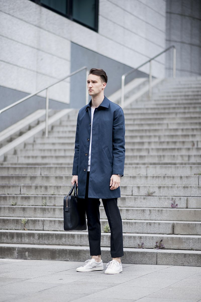 Coat (A.P.C.) Sweater (Tiger of Sweden) Pants (McQ by
