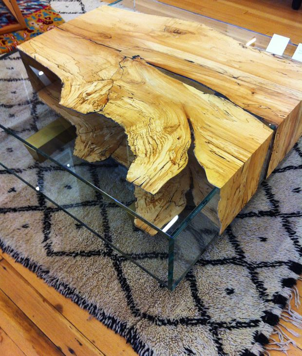 30 Live Edge Coffee Tables That Transform The Living Room: Storefront: I Don't Think We're In Kansas Anymore
