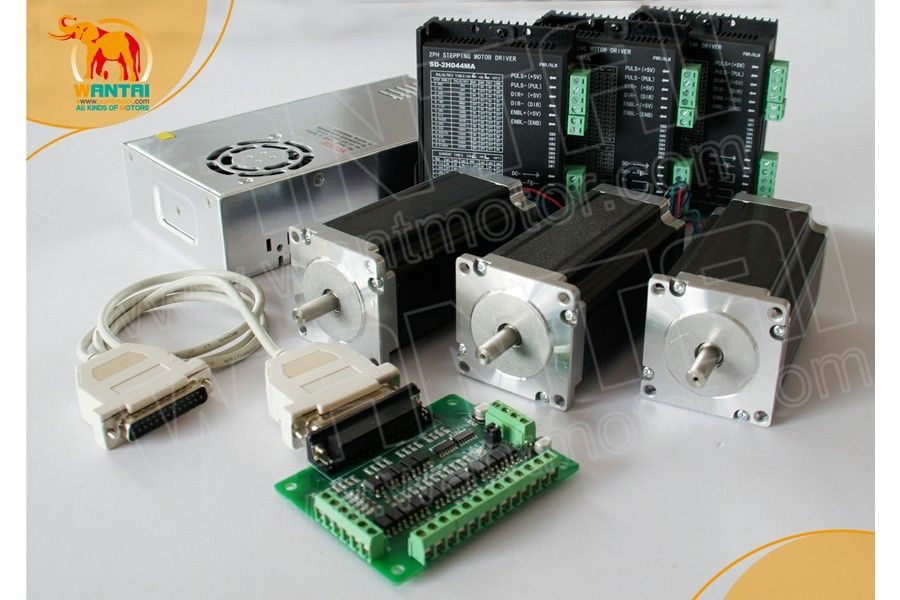 CNC Router kits 3Axis Nema 23 Stepper Motor 425oz-in,3.0A Dual Shaft Wantai CNC Mill Control-Electronics Production Machinery