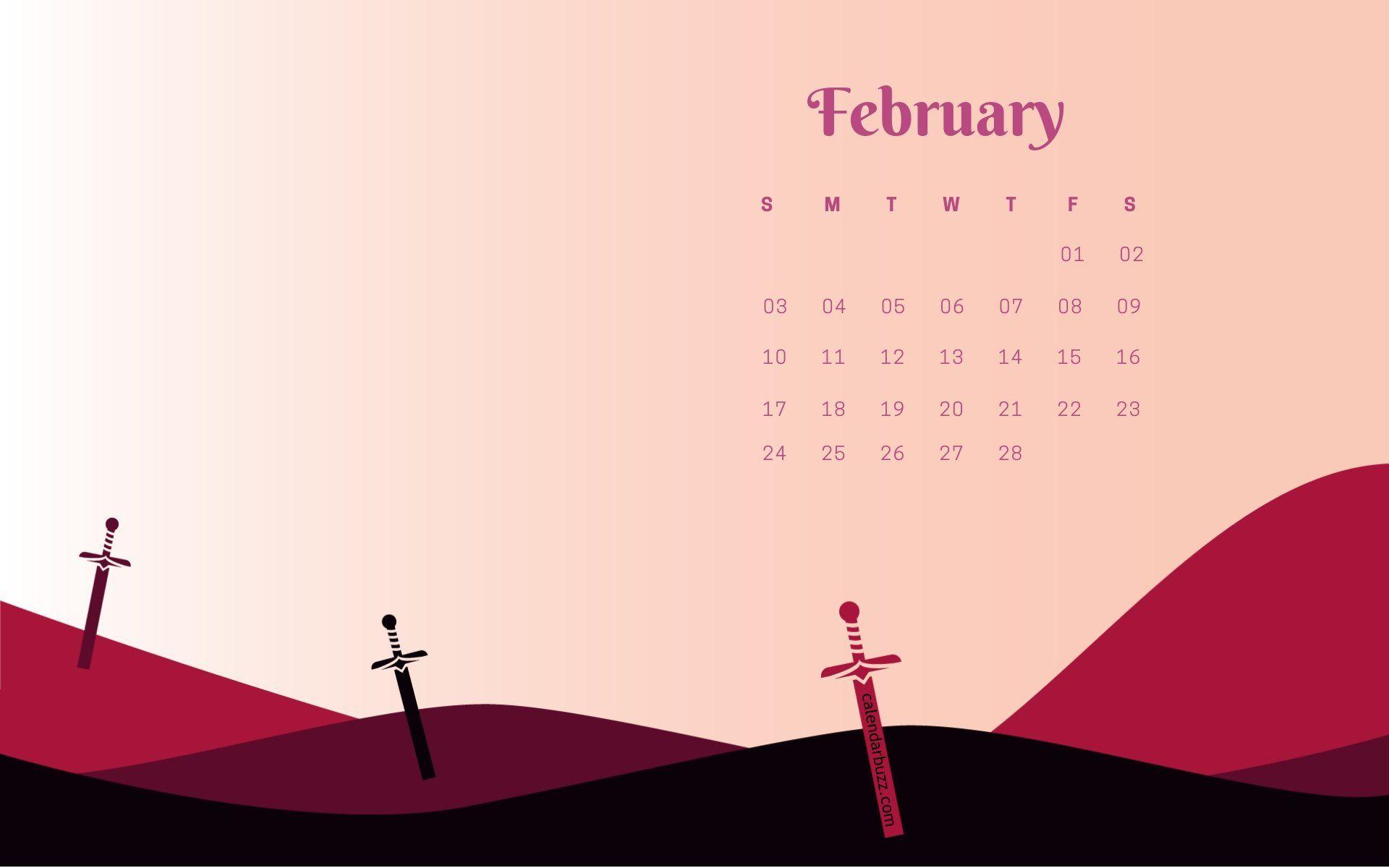 February Calendar Background 2019 February 2019 Stylish Calendar Wallpaper #February #february2019