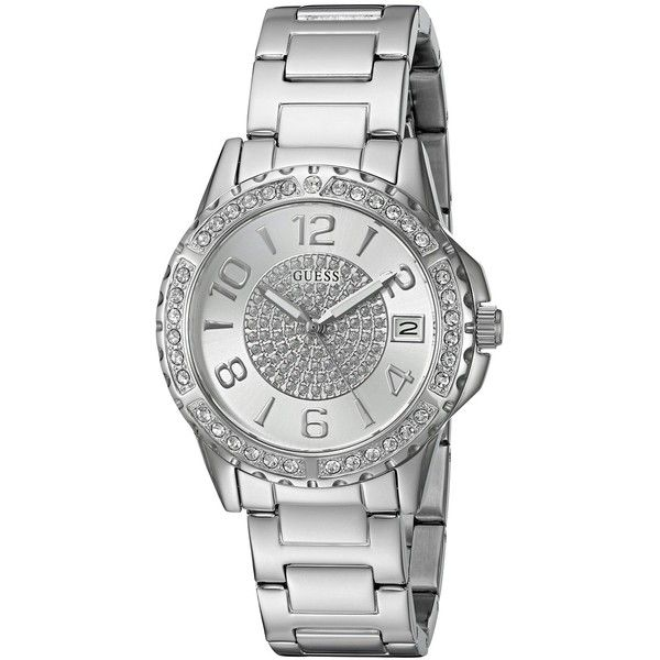 2d0338331927 GUESS Women s Quartz Stainless Steel Casual Watch, Color Silver-Toned  (Model