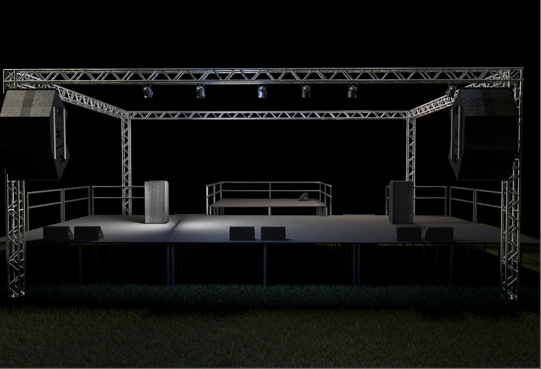 concert stage 3d model free download
