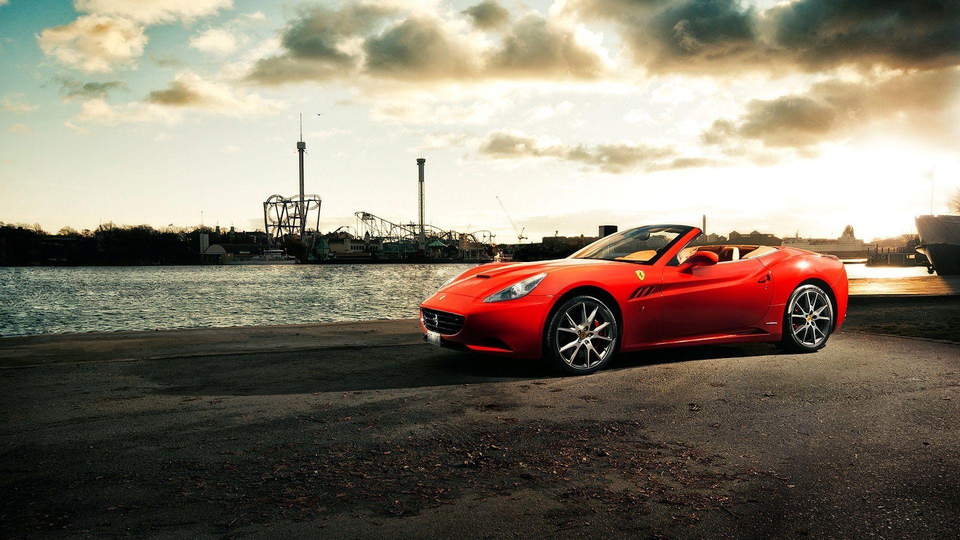 Ferrari California In Red On Hd Wallpaper From Www.hotszots.eu/Ferrari/WallpaperBackgroundsFerrari2.htm  #ferraricalifornia #wallpaperhd #cars | Pinterest ...