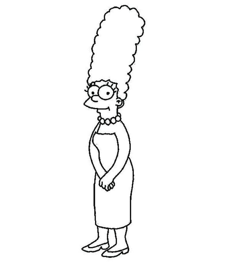 Free Coloring Pages Of The Simpsons Printable Homer J Simpson Who Is Described As A Donut Fan Wit In 2020 Tinkerbell Coloring Pages Marge Simpson Simpsons Drawings