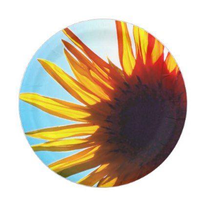 sc 1 st  Pinterest & Sunflower Paper Plates | Sunflowers