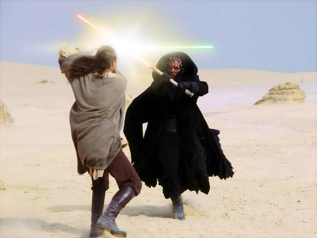 Duel On Tatooine Naboo Crisis Star Wars Episodes Star Wars Fandom Star Wars Awesome