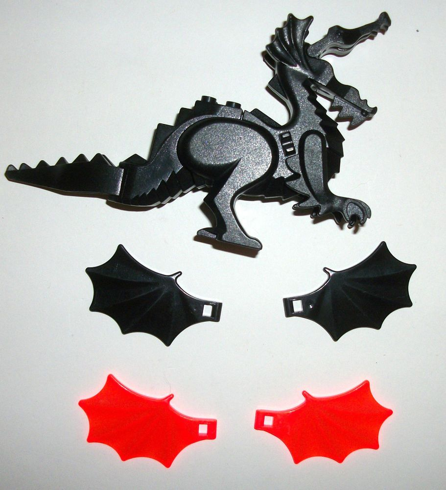 > > > $18.99 < < < #HARRYPOTTER #LEGOCASTLE #LEGO #CASTLE #LEGOPIRATES #PIRATES #LORDOFTHERINGS LEGO Castle Black Dragon Animal Wings Set 4818 6007 6047 6097 6099 Knight Lot  #LEGO