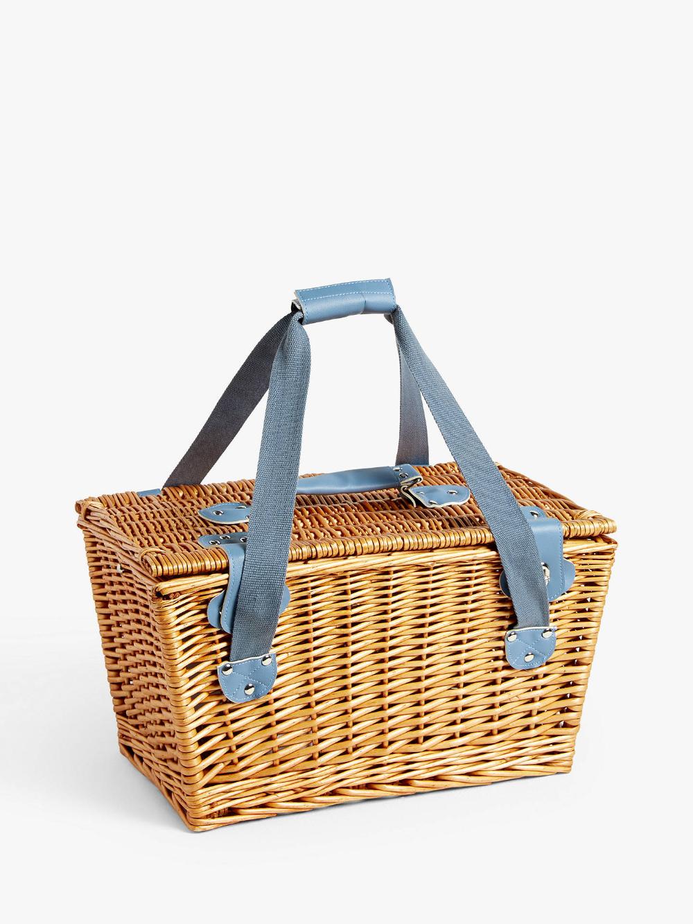 John Lewis & Partners Meadow Filled Wicker Picnic Basket