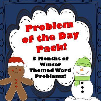 Winter Word Problems  Math Interactive Notebook Activities Pack