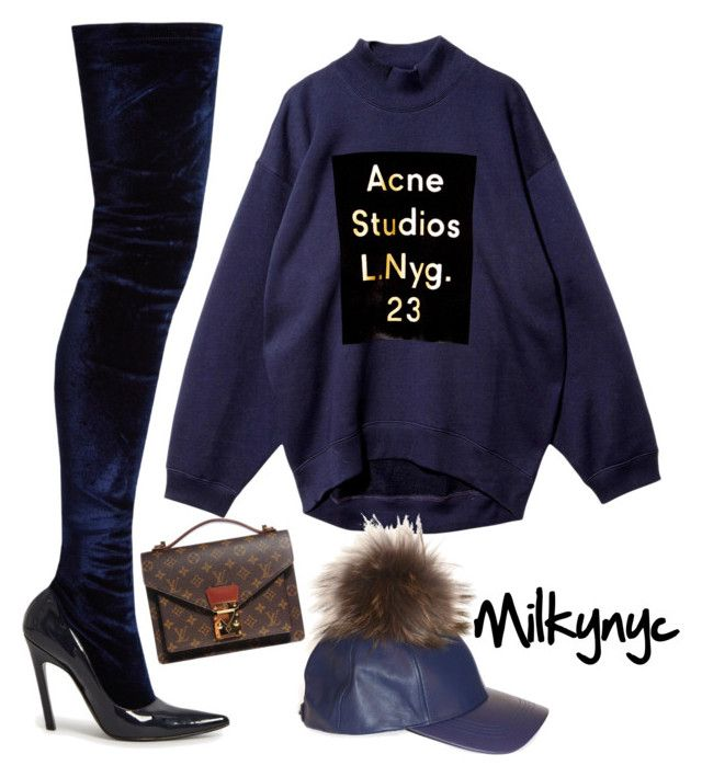 """""""Untitled #902"""" by mizzbehave ❤ liked on Polyvore featuring Acne Studios, Louis Vuitton and Balenciaga"""