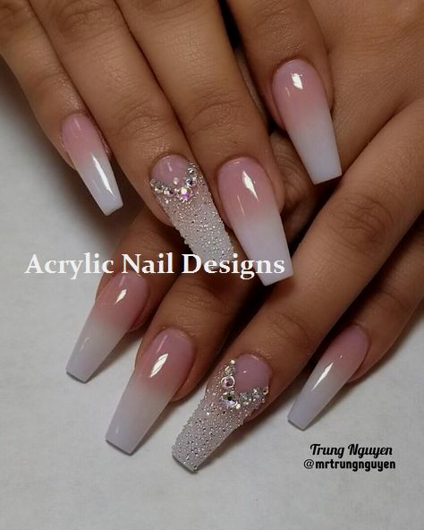 30 Wedding Nail Designs Ideas For Your Big Day Wonder Cottage Wedding Nails Design Acrylic Nail Designs Nail Designs