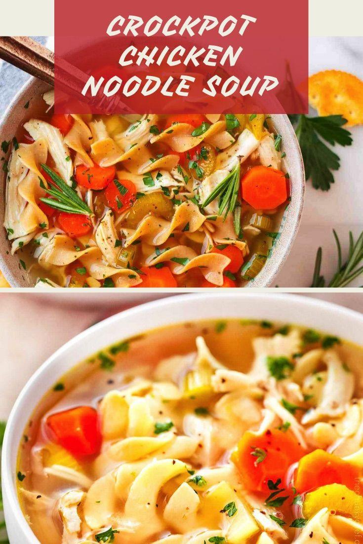 crock pot chicken noodle soup  this is a classic soup