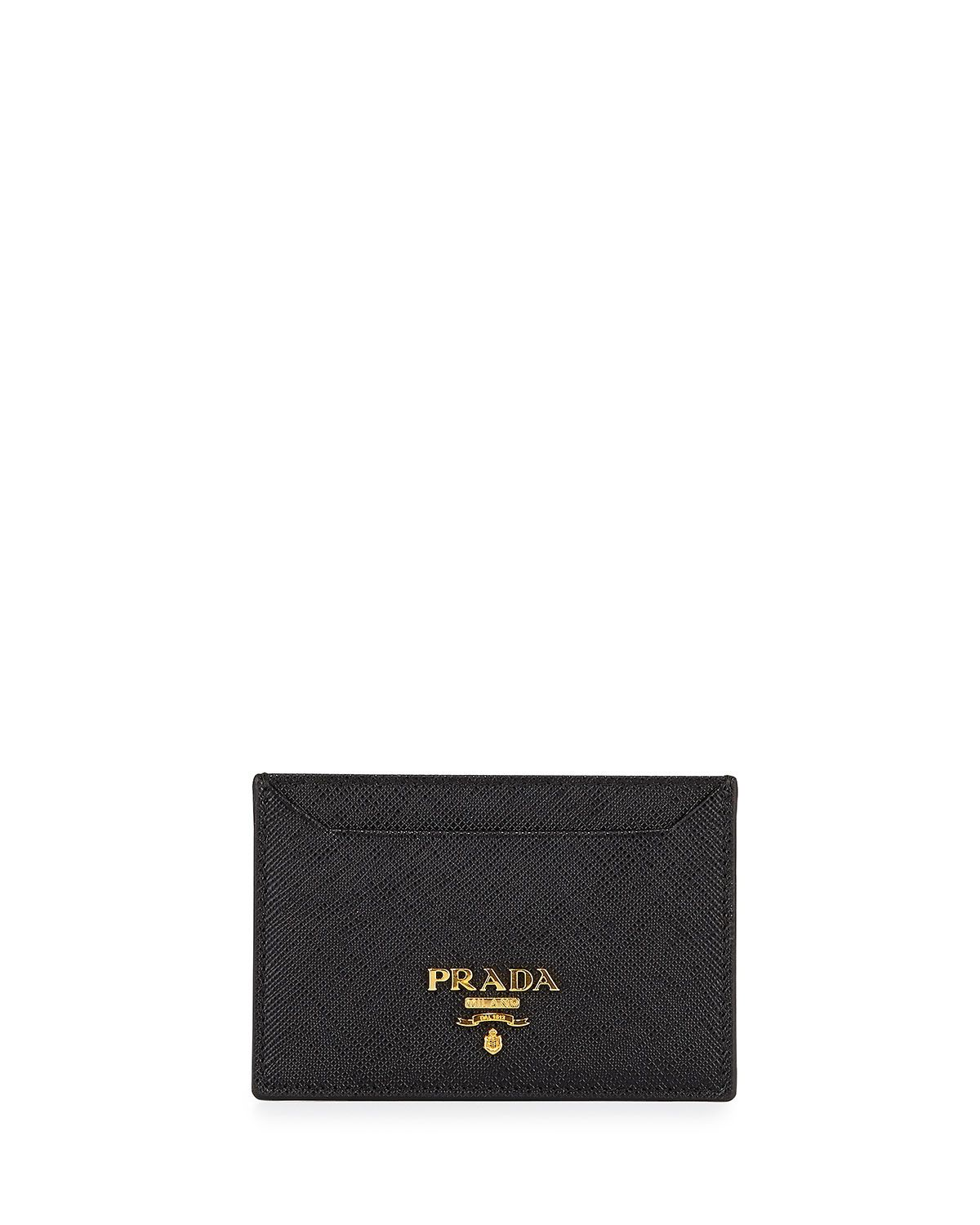 041d77c5f22e09 Saffiano Card Holder, Black (Nero), Women's - Prada | *Handbags ...