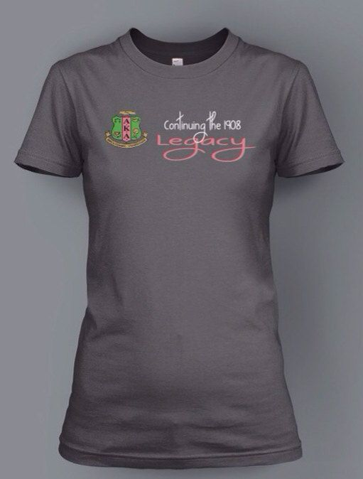 f1ada24f3 Continuing the Legacy AKA t-shirt on Etsy, $25.00 #followprettypearlsinc  AKA 1908