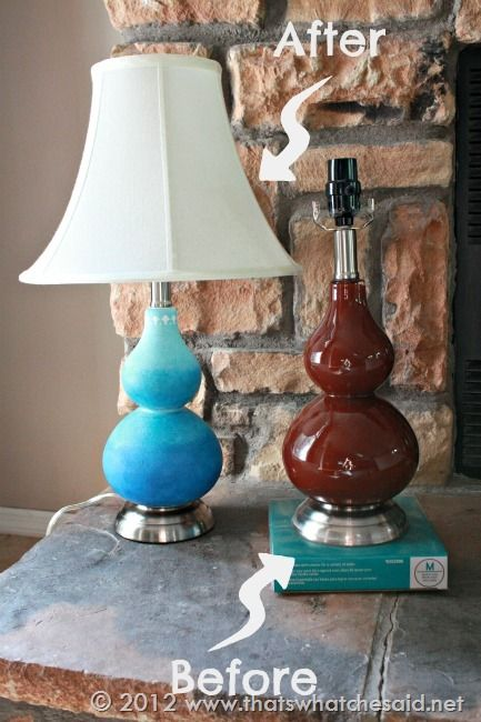Up Cycled Ombre Glass Lamp Ombre Glass Lamp Glass Lamp Lamp