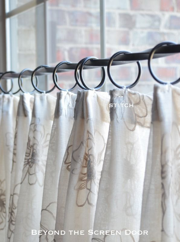 When To Use Pleated Sheer Cafe Curtains | Beyond The Screen Door. Hanging  ...
