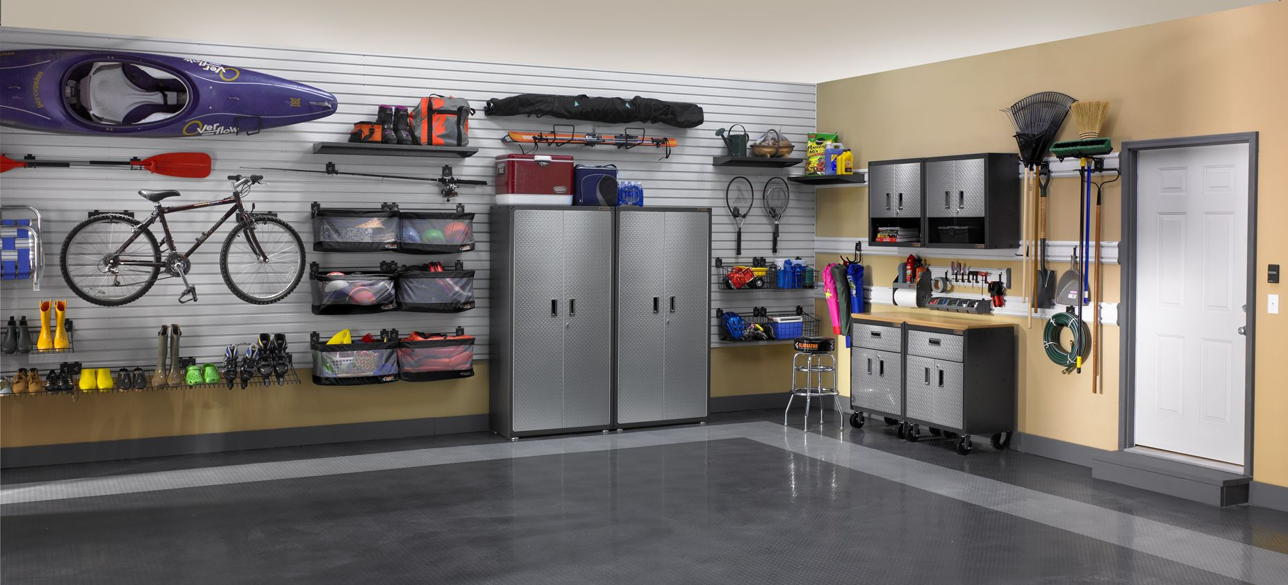 gladiator garageworks storage, organization, flooring, and more