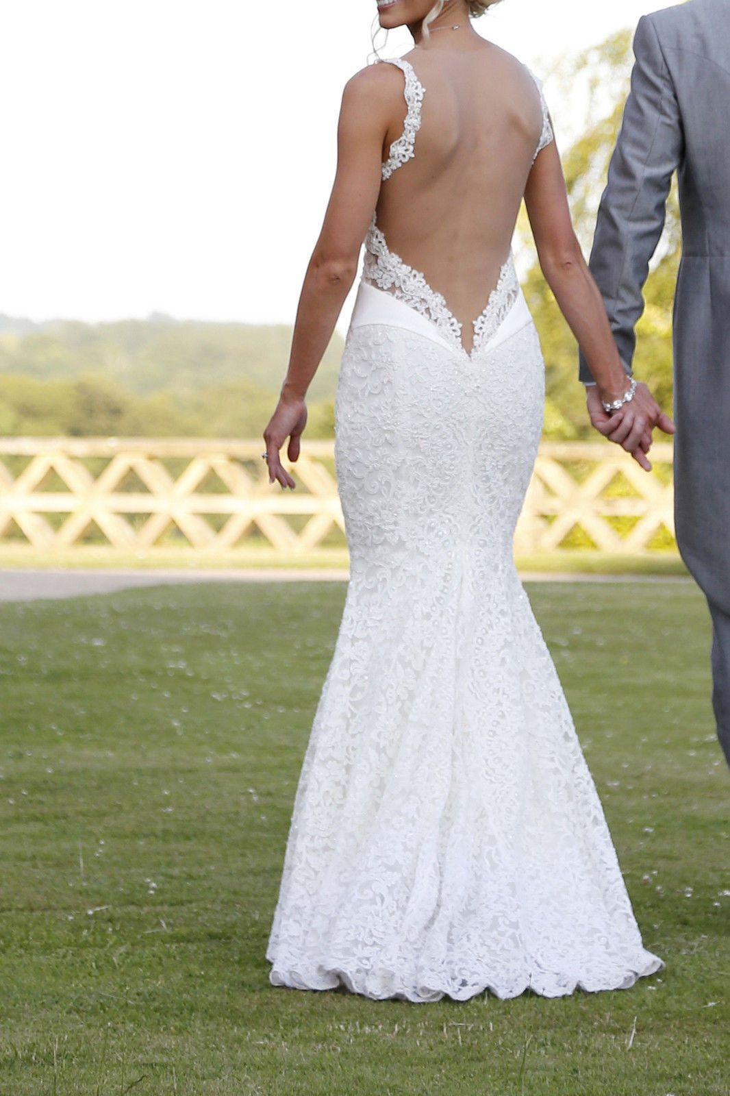 Galia Lahav Wedding Dress Style Name Is Amy French Lace Ivory Low Back Size 8 Ebay
