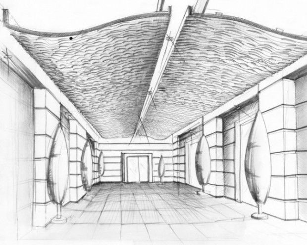 Interior Design Curved Ceiling Sketch   Google Search