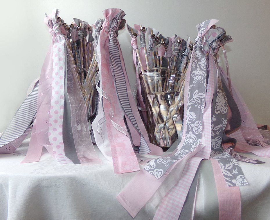 200 Wedding send off wands with bell option, three