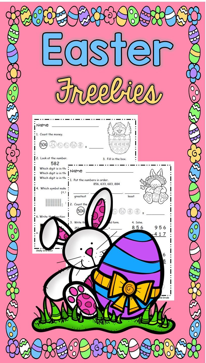small resolution of Easter Printables for 2nd grade--FREE 2nd grade math--counting money