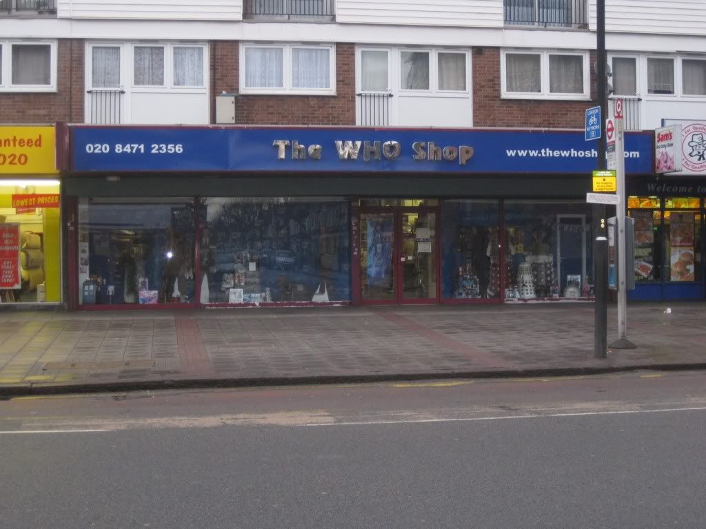 ONE DAY. Just you wait. Imma buy myself a sonic screwdriver (The Who Shop in Upton Park),