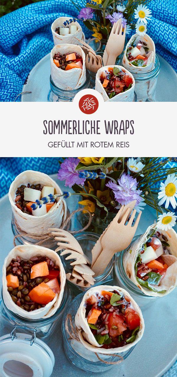 Sommerlich gefüllte Wraps Wie wär's mit diesen leckeren Wraps für ein Picknick? ☀️ Schnell gemacht & Perfekt zum Mitnehmen!