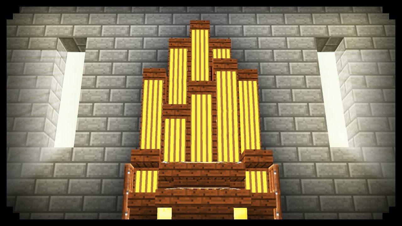 Minecraft How To Make An Organ Minecraft Projects Minecraft Blueprints Minecraft Designs