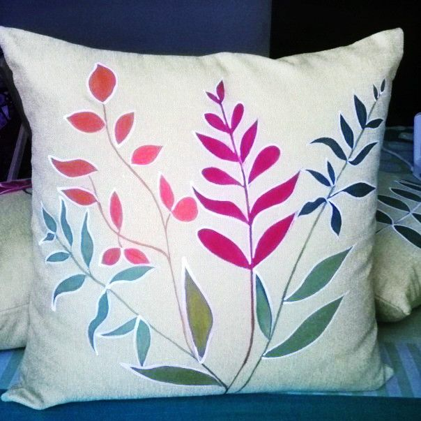 Hand Painted Cushion Cover Art Work By 'shruhiarts' Pinterest Gorgeous Hand Painted Pillow Covers
