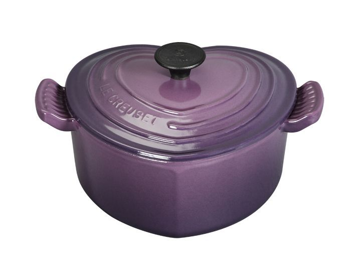 Heart Casserole Le Creuset Purple Kitchen Purple Home Creuset