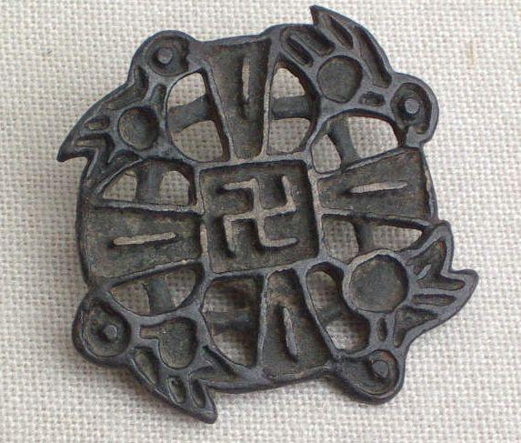 Mongolia, Nestorian Pin, 7th century | Ancient symbols ...