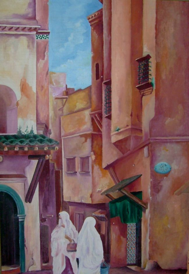 Algeria Peinture Casbah D Alger Peinture De Marguerite Peinture