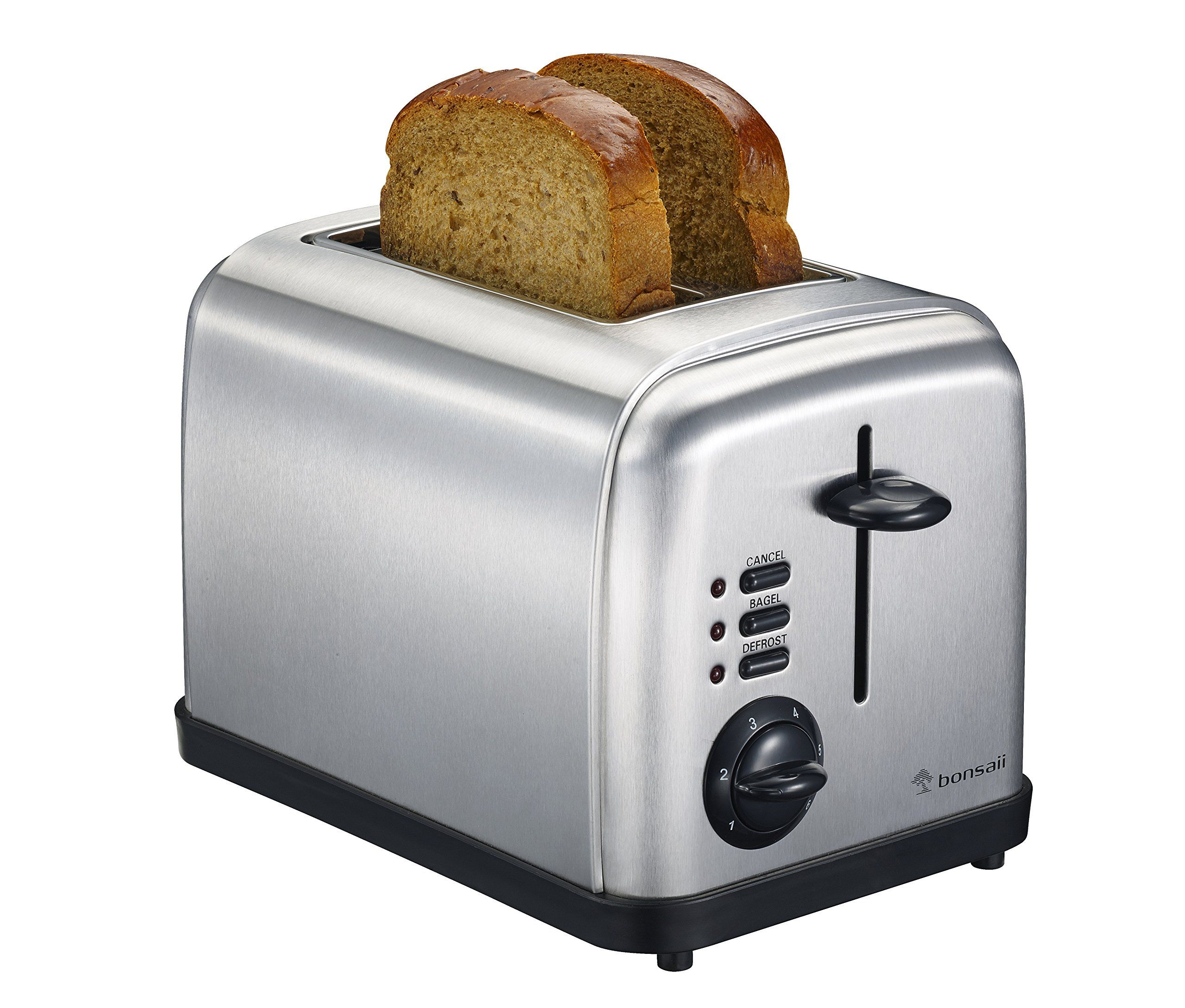 Bonsaii T860 2-Slice Toaster,Bagel Toster,Defrost and Cancel ...