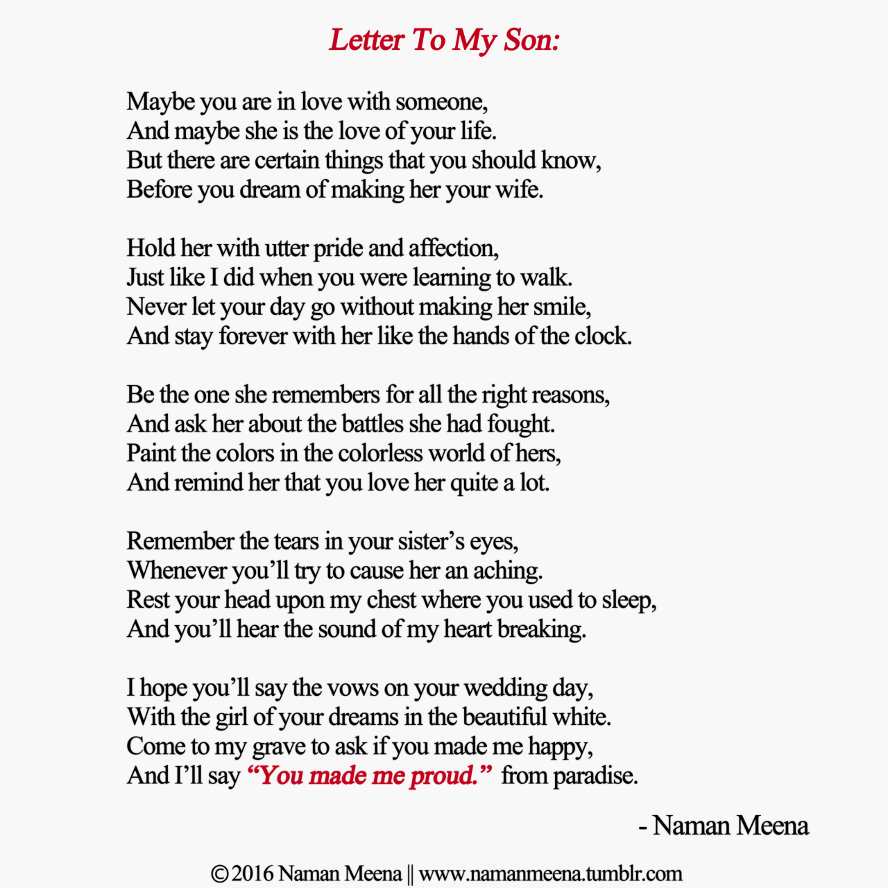 a letter to my son from his mother naman meena poetry quot letters to my quot naman meena 28942 | a4273c60c82c9a694f34ce717e6497d0
