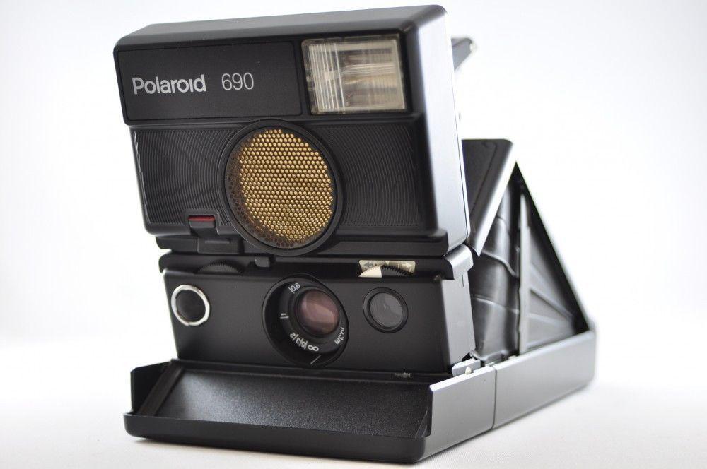 Exc  Polaroid 690 Black Instant Film Camera  Polaroid   Camera ... 5fbfbe049f28