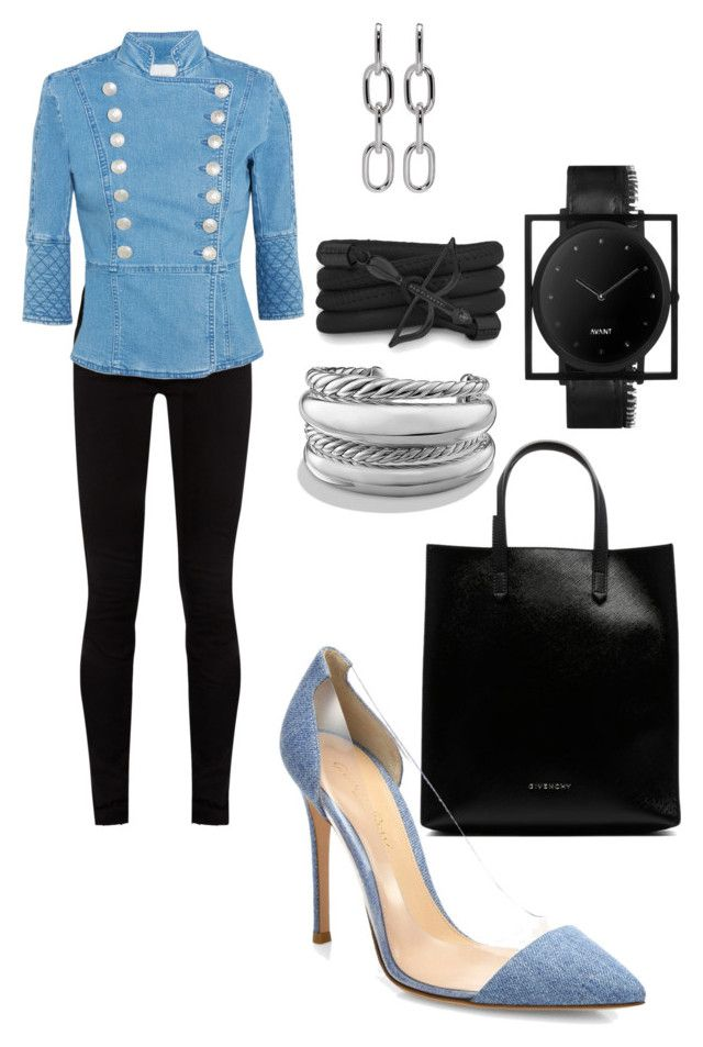 """Denim"" by styleociety on Polyvore featuring мода, Gucci, Pierre Balmain, Gianvito Rossi, South Lane, Monza, David Yurman и Alexander Wang"